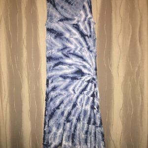 Ruffled Tie Dye Dress Blue Charlotte Tarantola